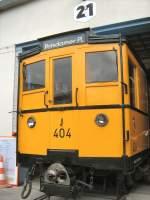 Hist. Fahrzeuge/66609/hist-u-bahnwagen-404-in-der-hauptwerkstatt Hist. U-Bahnwagen 404 in der Hauptwerkstatt Seestrasse