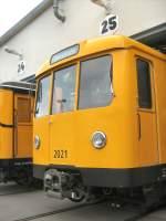 Hist. Fahrzeuge/66616/u-bahnwagen-2021-in-der-hw-seestrasse U-bahnwagen 2021 in der Hw Seestrasse, Berlin Tag der offenen Tor Berlin 2008