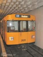 Grosprofil  Nr 2400-2999/68055/wagen-2820-im-u-bhf-blissestrasse-u Wagen 2820 im U-Bhf Blissestrasse, U 7 Berlin 2009