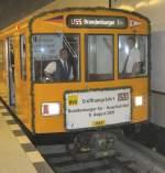 U 55/72153/eroeffnungszug-im-u-bhf-hauptbahnhof-u-55 Eröffnungszug im U-Bhf Hauptbahnhof, U 55 Berlin 2009